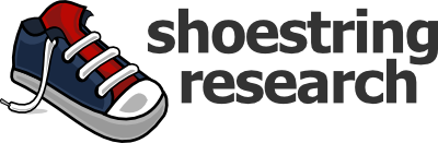Shoestring Research logo